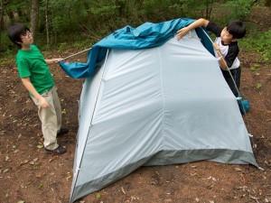 テントを立ててみよう